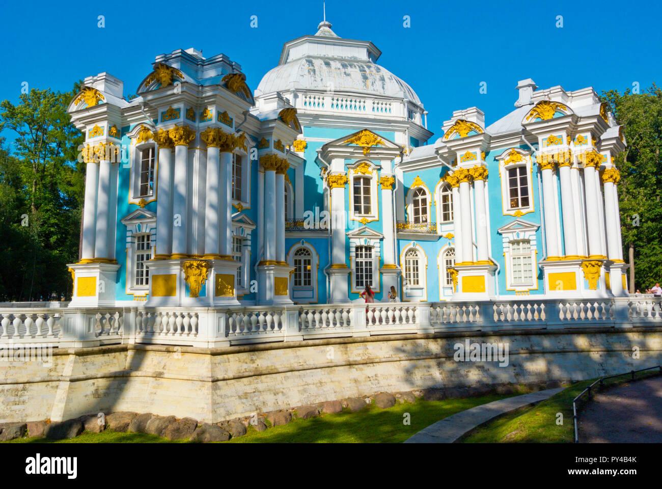 Hermitage Pavilion, Catherine Park, Tsarskoye Selo, near Saint Petersburg, Russia - Stock Image