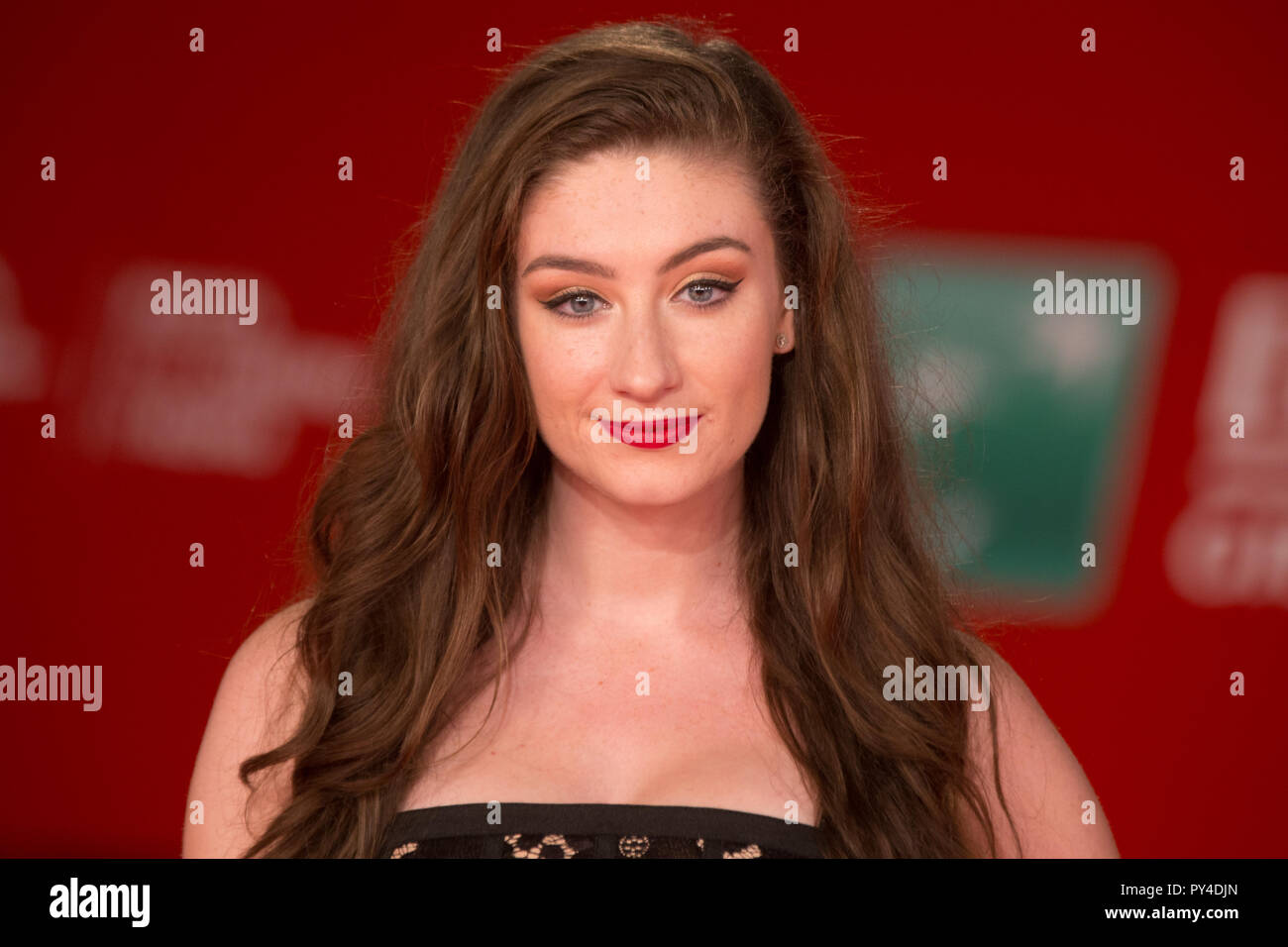 Roma, Italy. 24th Oct, 2018. Red Carpet with English actress and media personality Amber Doig-Thorne at the Rome Film Fest Credit: Matteo Nardone/Pacific Press/Alamy Live News - Stock Image