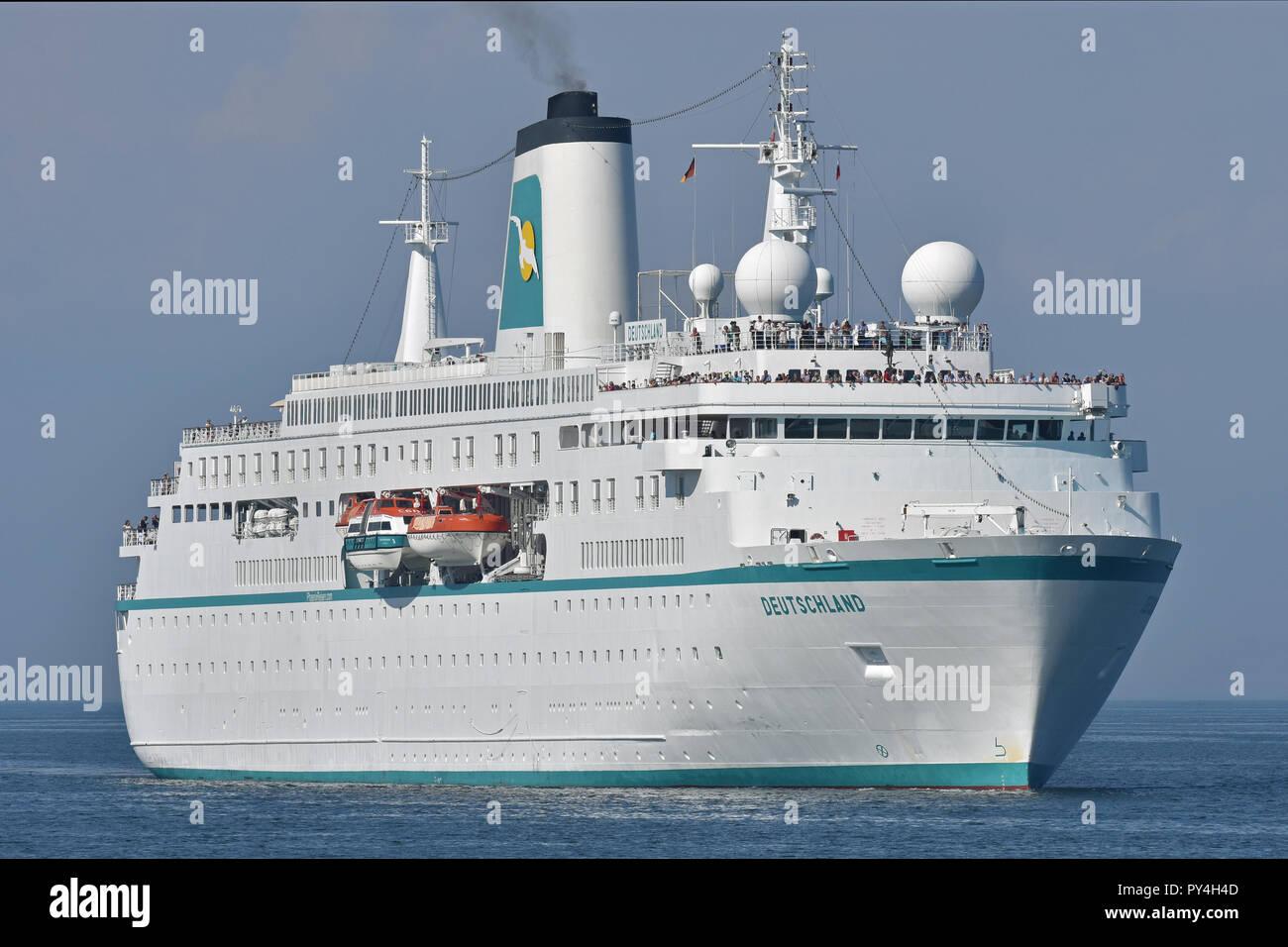 Cruiseship Deutschland inbound Kiel fjordStock Photo