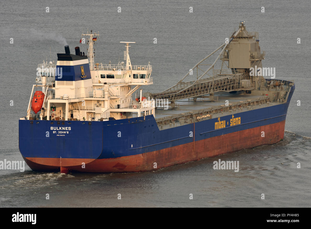 Self-discharging bulkcarrier BulknesStock Photo
