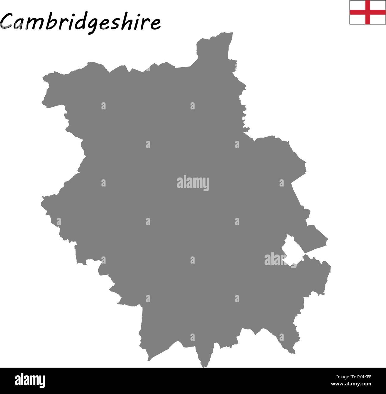 Vector Map County Cambridgeshire Stock s & Vector Map County