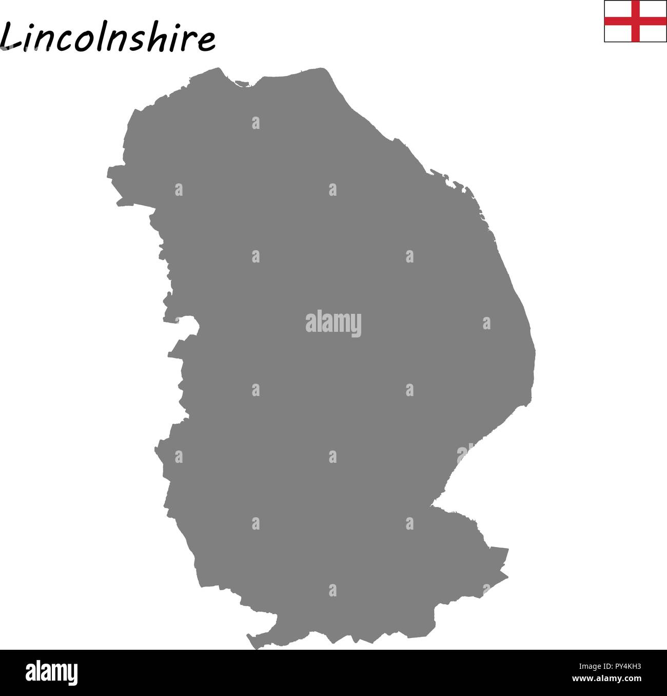 Map Of England Lincolnshire.High Quality Map Is A Ceremonial County Of England Lincolnshire