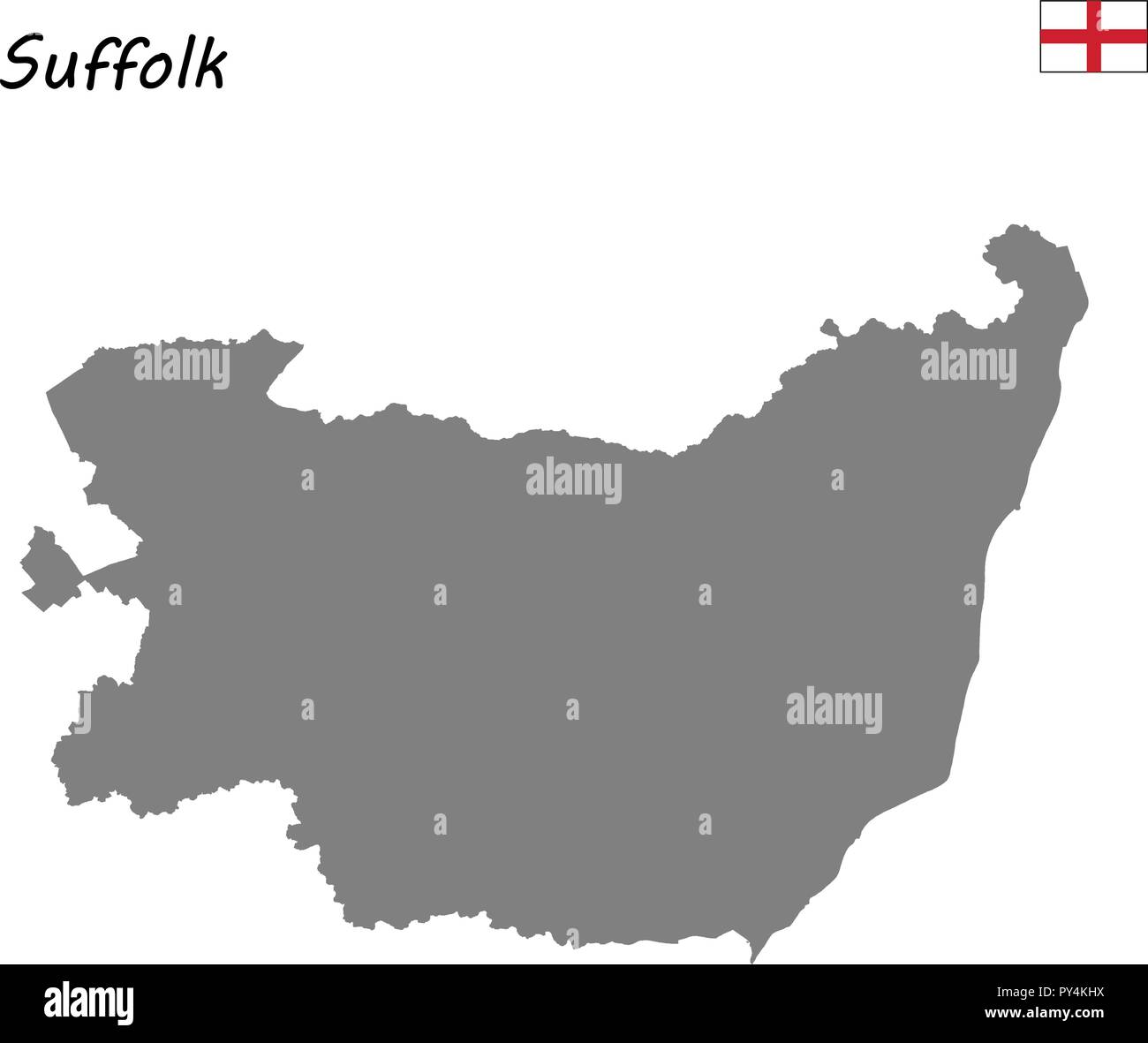 Suffolk County England Map.High Quality Map Is A Ceremonial County Of England Suffolk Stock