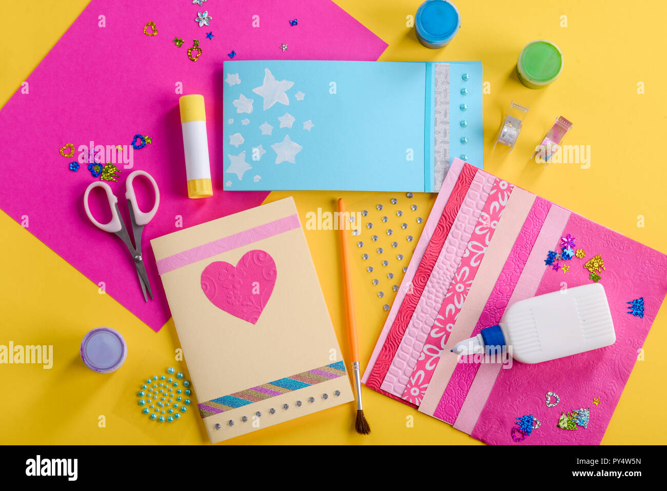Wondrous Doing Handmade Greeting Cards Stock Photo 223227697 Alamy Funny Birthday Cards Online Alyptdamsfinfo