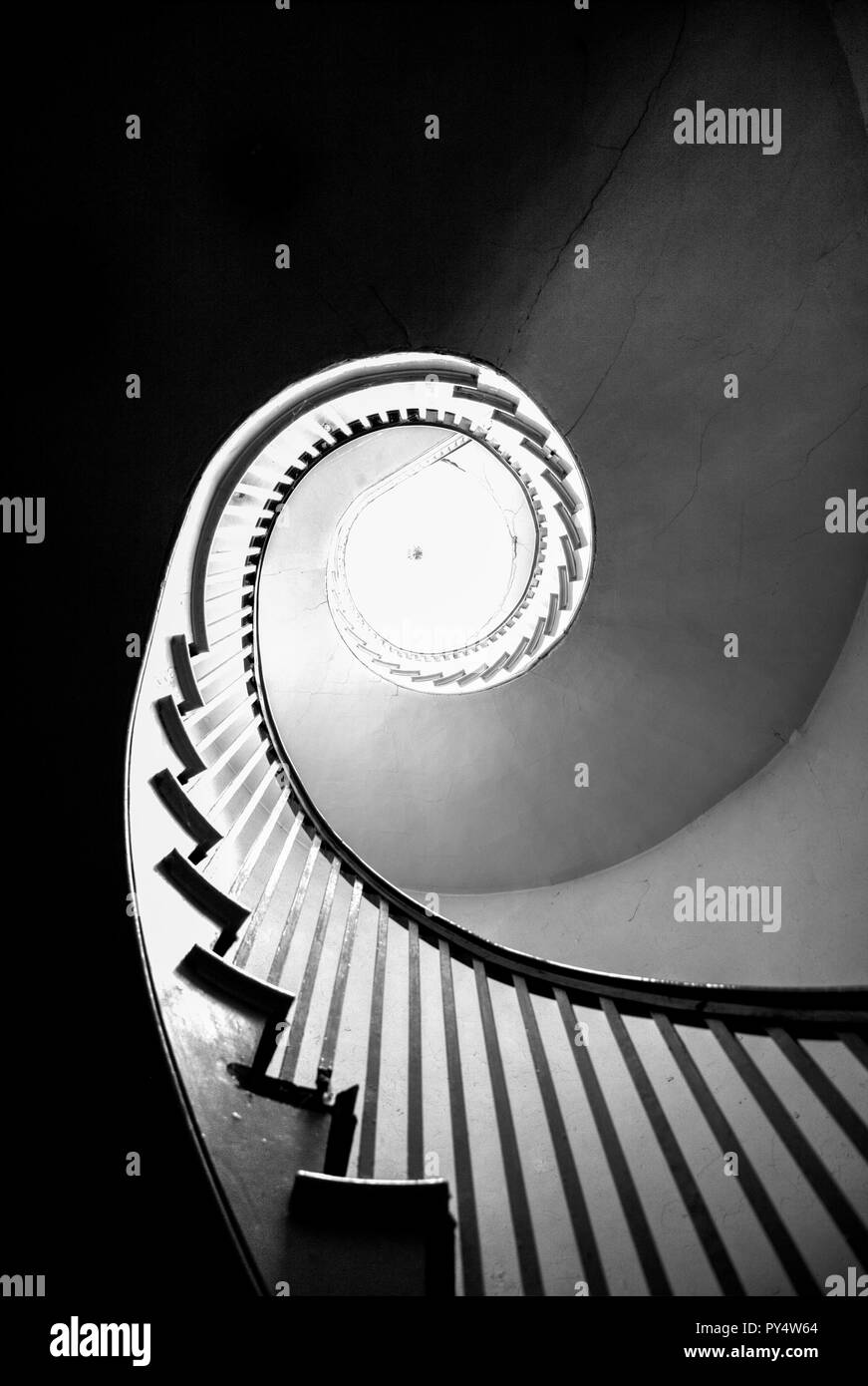 Spiral staircase, Spiral stairs, wooden spiral staircase, spiral stair case, Spiral stairs staircase, abstract, black and white, winding staircase, Stock Photo