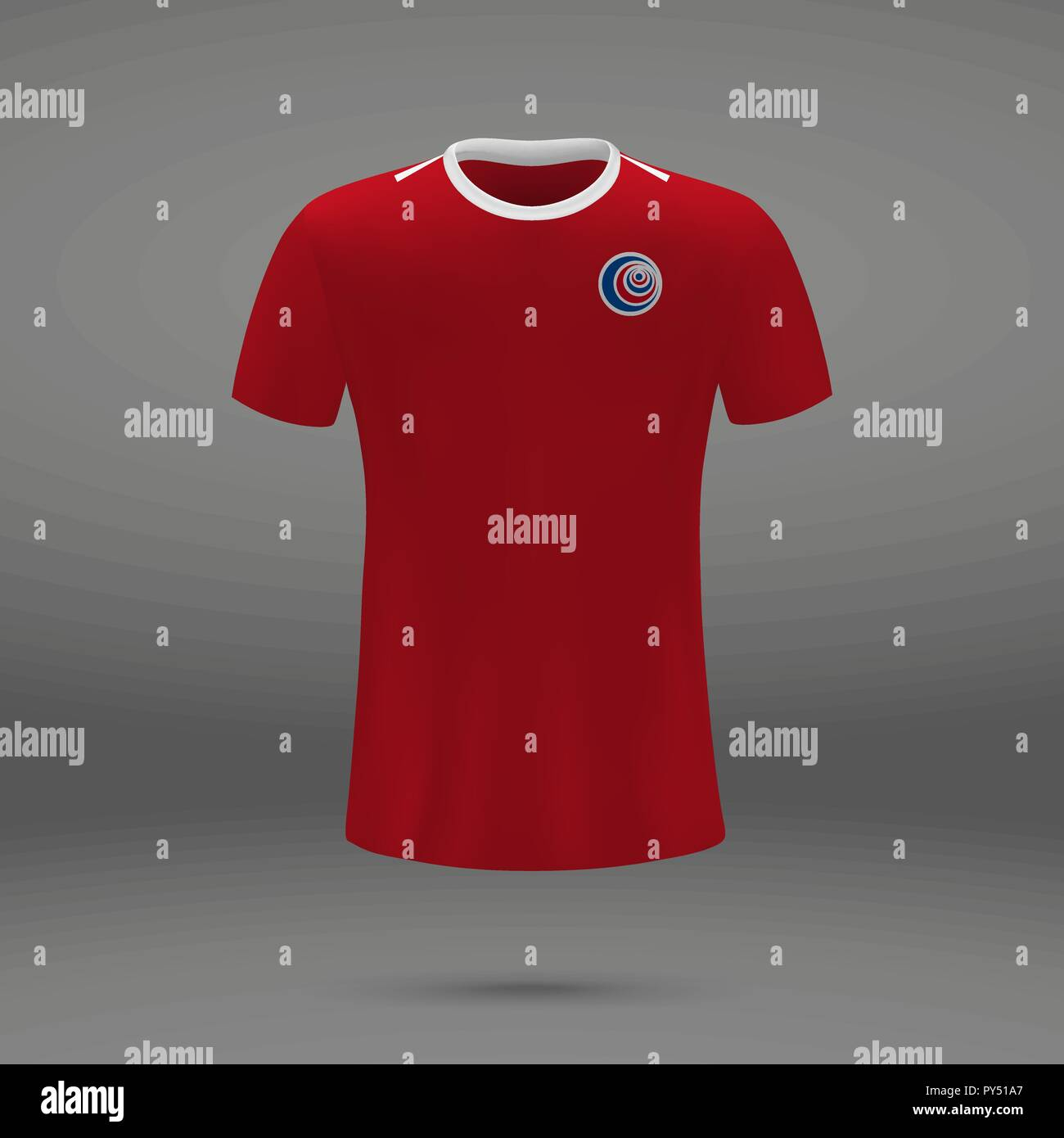 87304a4d072 football kit of Costa Rica, t-shirt template for soccer jersey. Vector  illustration