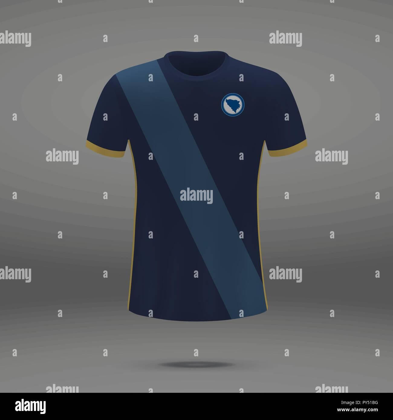 70c684836 football kit of Bosnia 2018, t-shirt template for soccer jersey. Vector  illustration