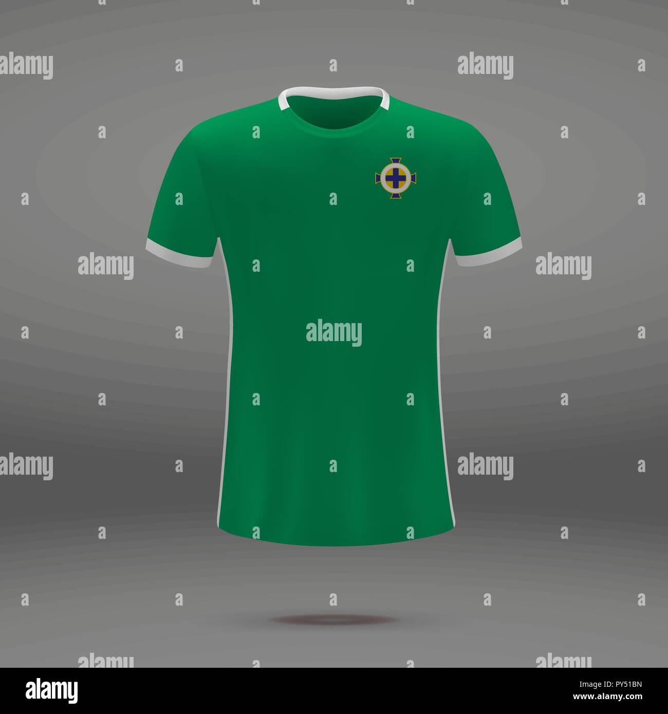 buy online ddf51 7cb07 football kit of Northern Ireland 2018, t-shirt template for ...