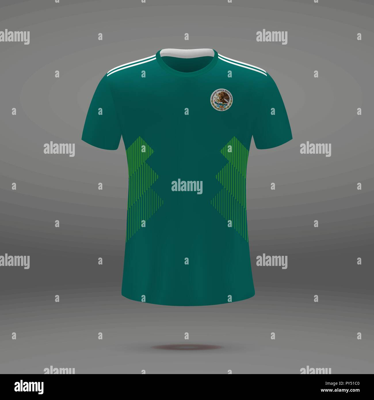 816ff947b14 football kit of Mexico 2018, t-shirt template for soccer jersey. Vector  illustration