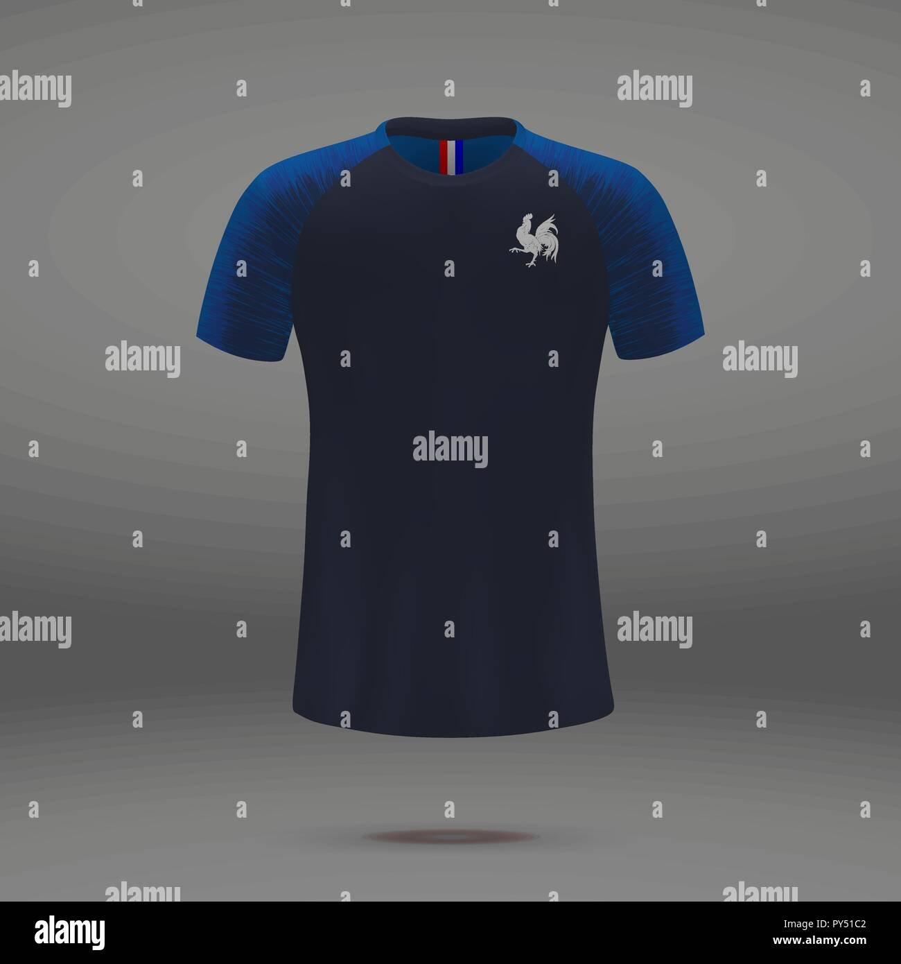 100% authentic df701 95e50 football kit of France 2018, t-shirt template for soccer ...