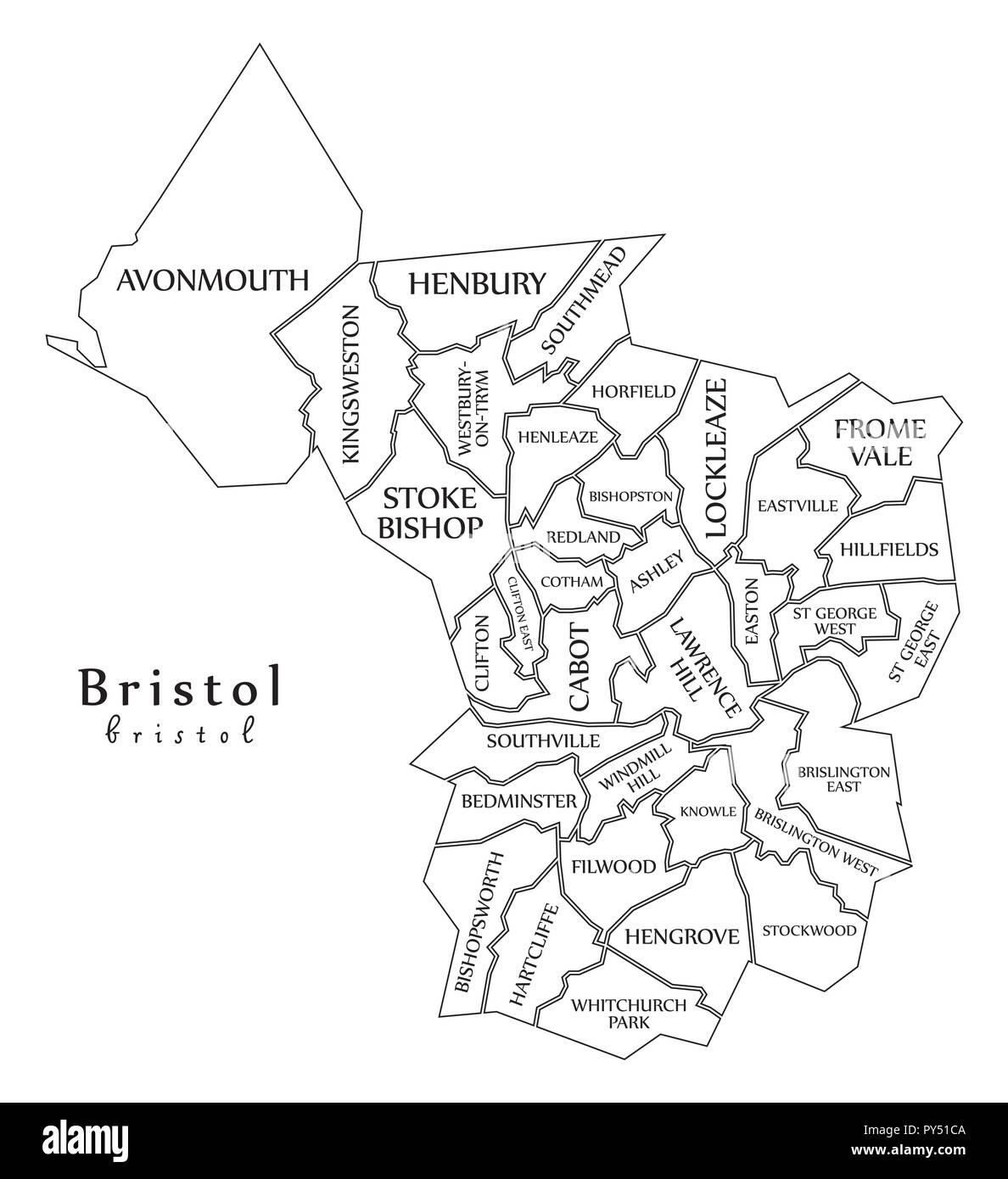 map of bristol uk