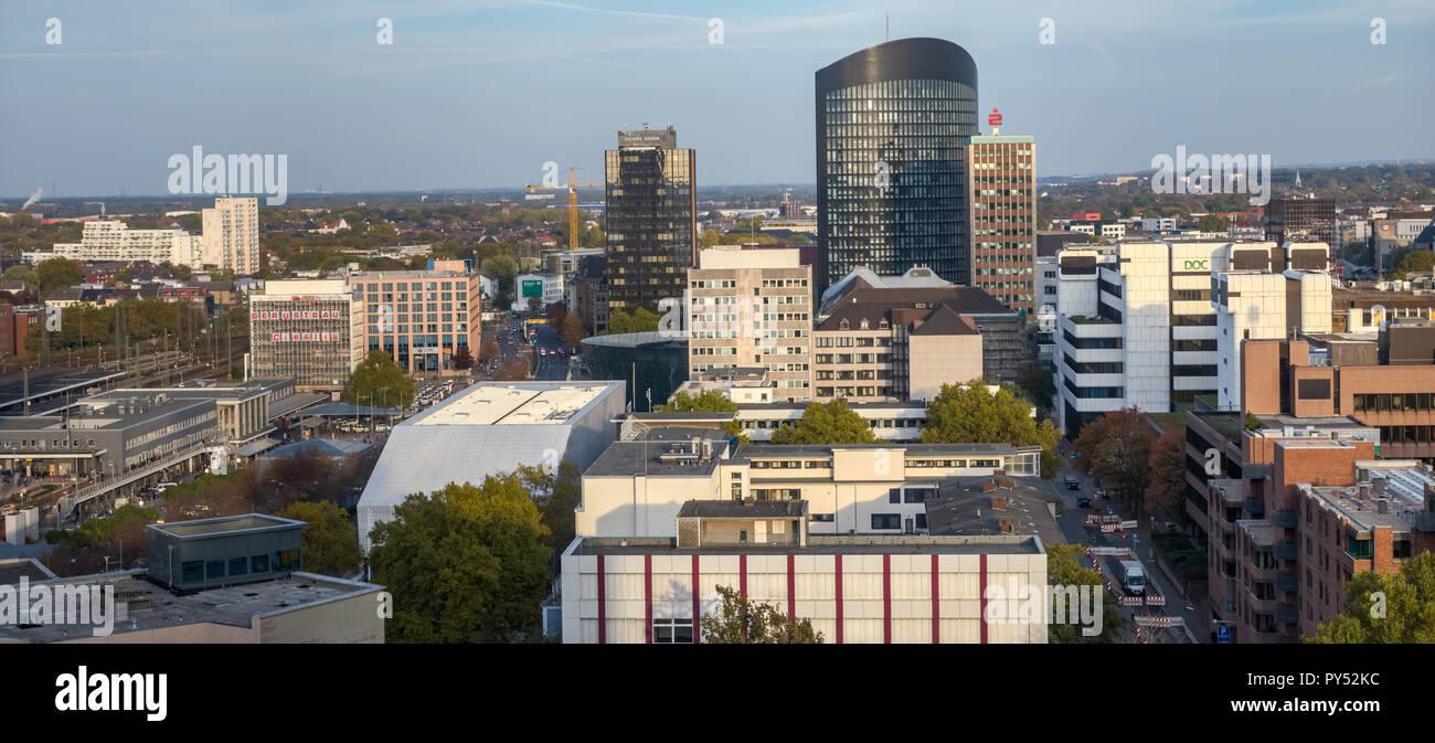Dortmund, Germany, October 20., 2018: Panoroma of th center of Dortmund. Stock Photo