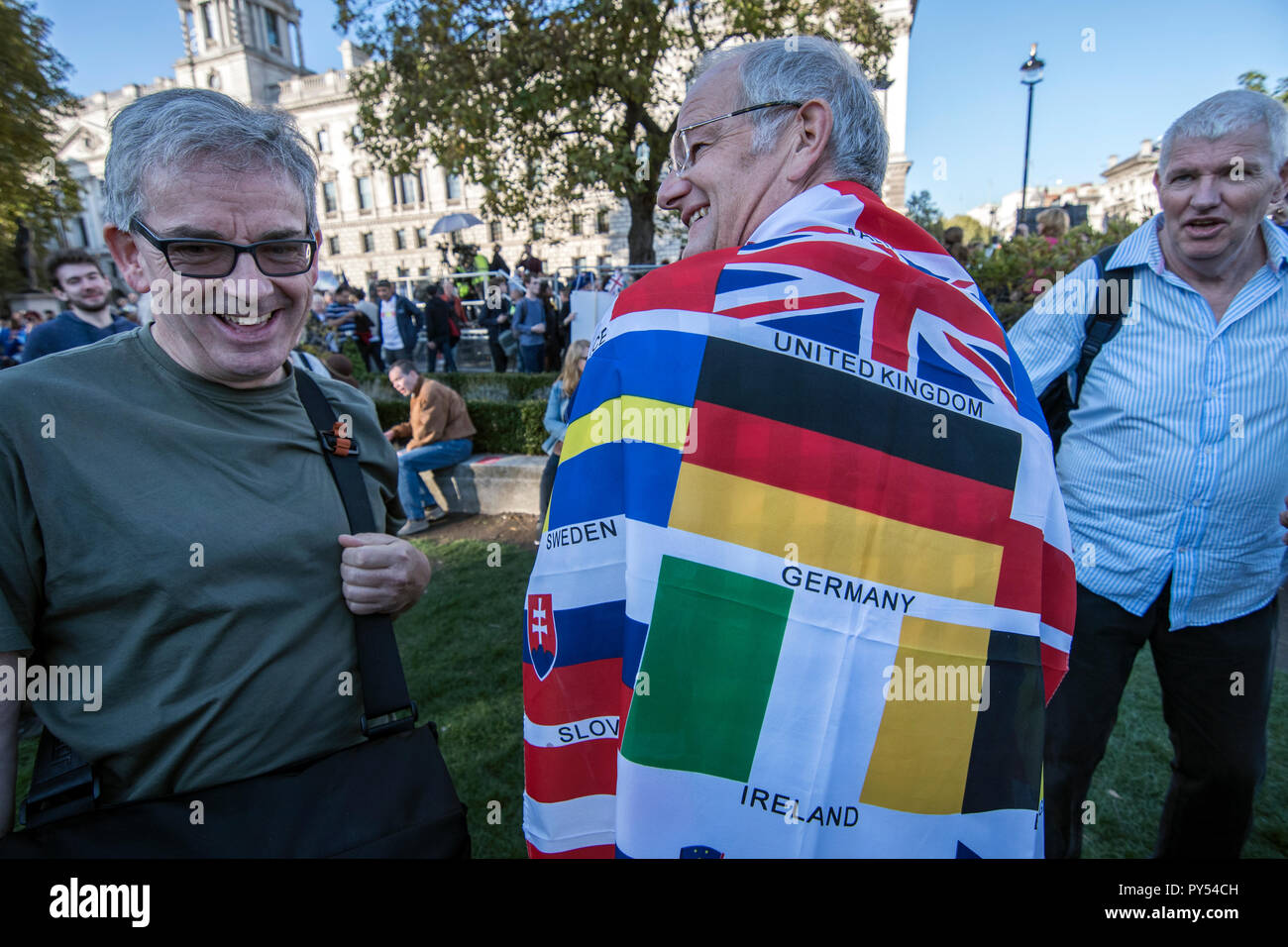 Anti Brexit Peoples March calling for a second referendum Vote on leaving the EU. London 20 Oct 2018 - Stock Image