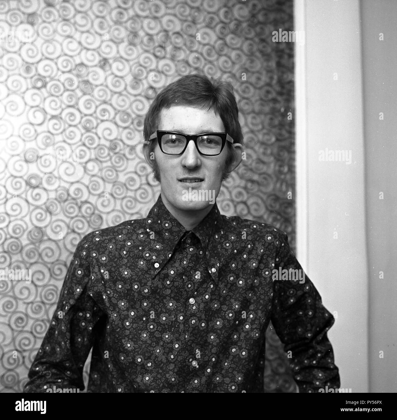 THE ATTACK English pop group member Bob Hodges in 1967 - Stock Image