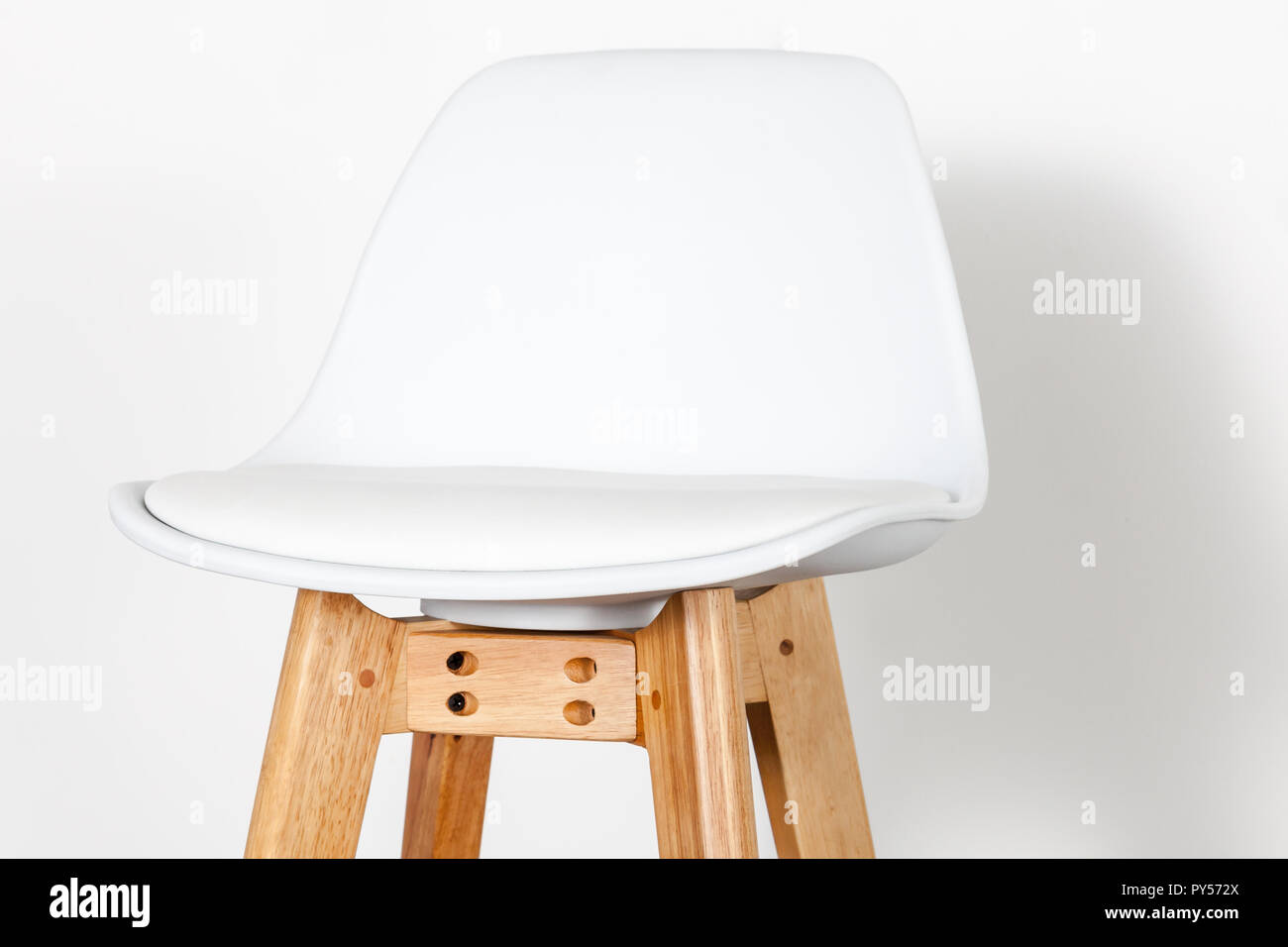 details of a white footstool - Stock Image