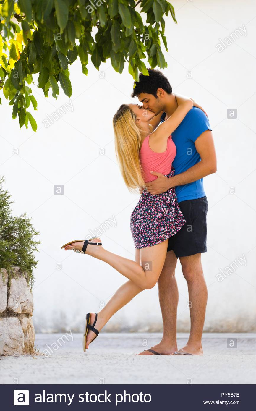 Young couple is happy - Stock Image