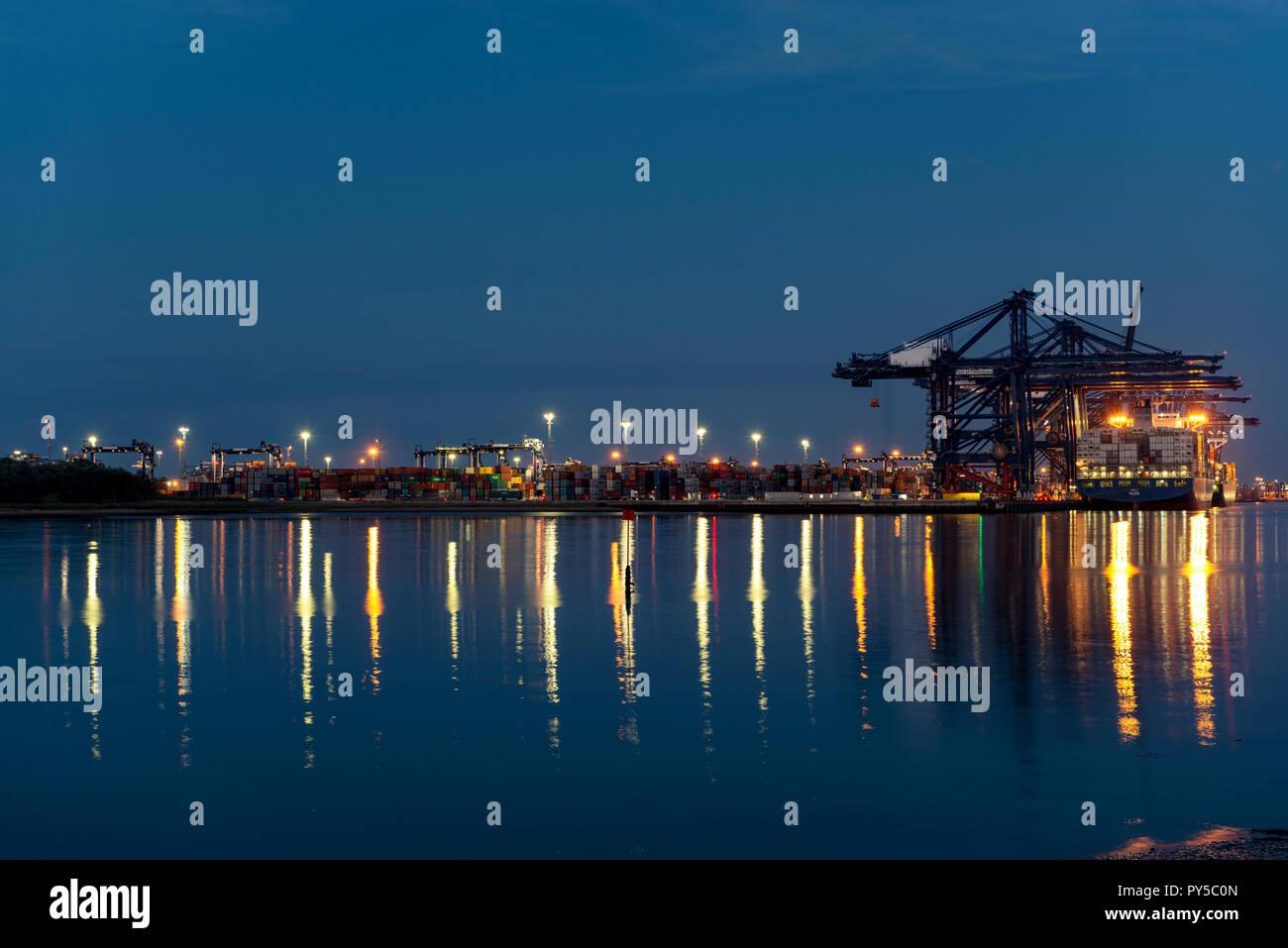 Port of Felixstowe, Suffolk, UK. - Stock Image