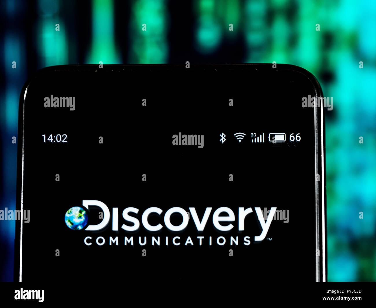 Discovery Inc Mass Media Company Logo Seen Displayed On