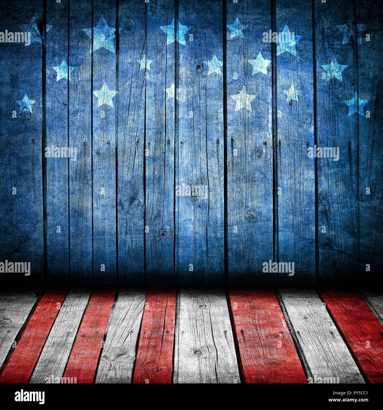 Usa Style Background Empty Wooden Table For Display Montages Stock Photo Alamy