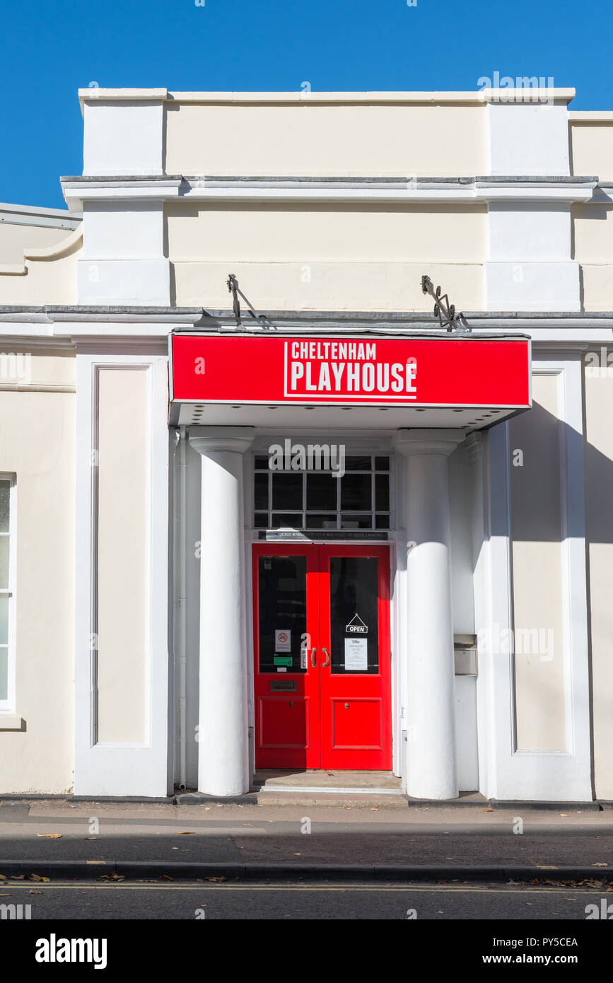 Cheltenham Playhouse is a community theatre in the spa town of Cheltenham, Gloucestershire - Stock Image