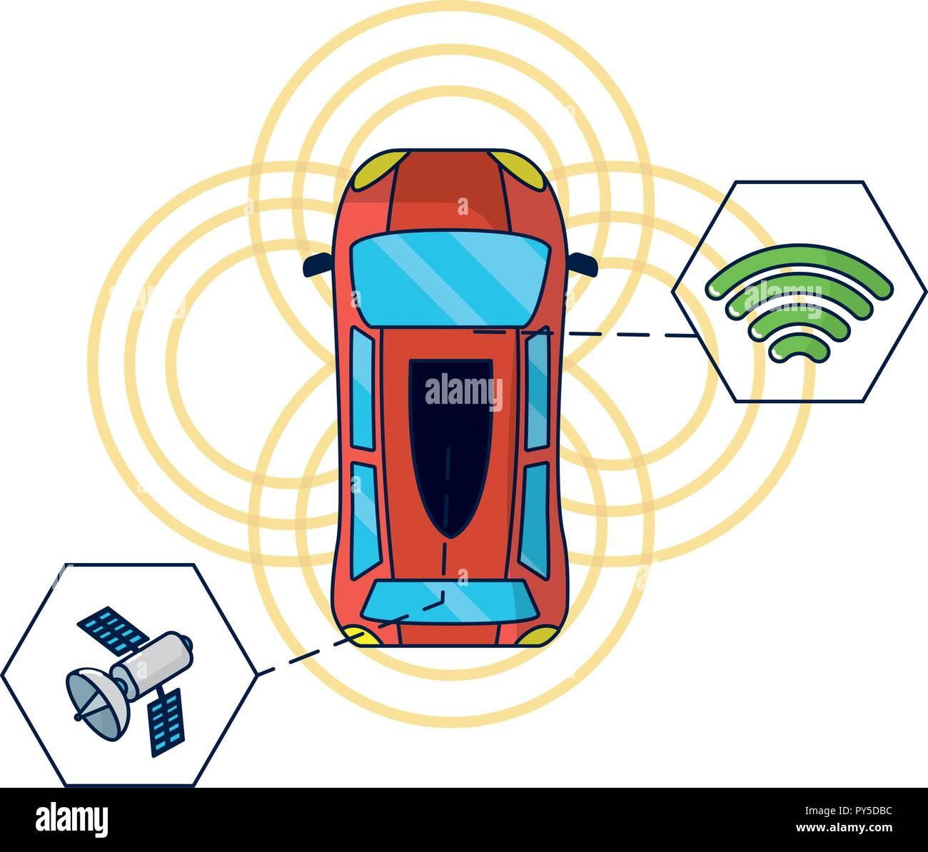 GPS vehicle tracking - Stock Image