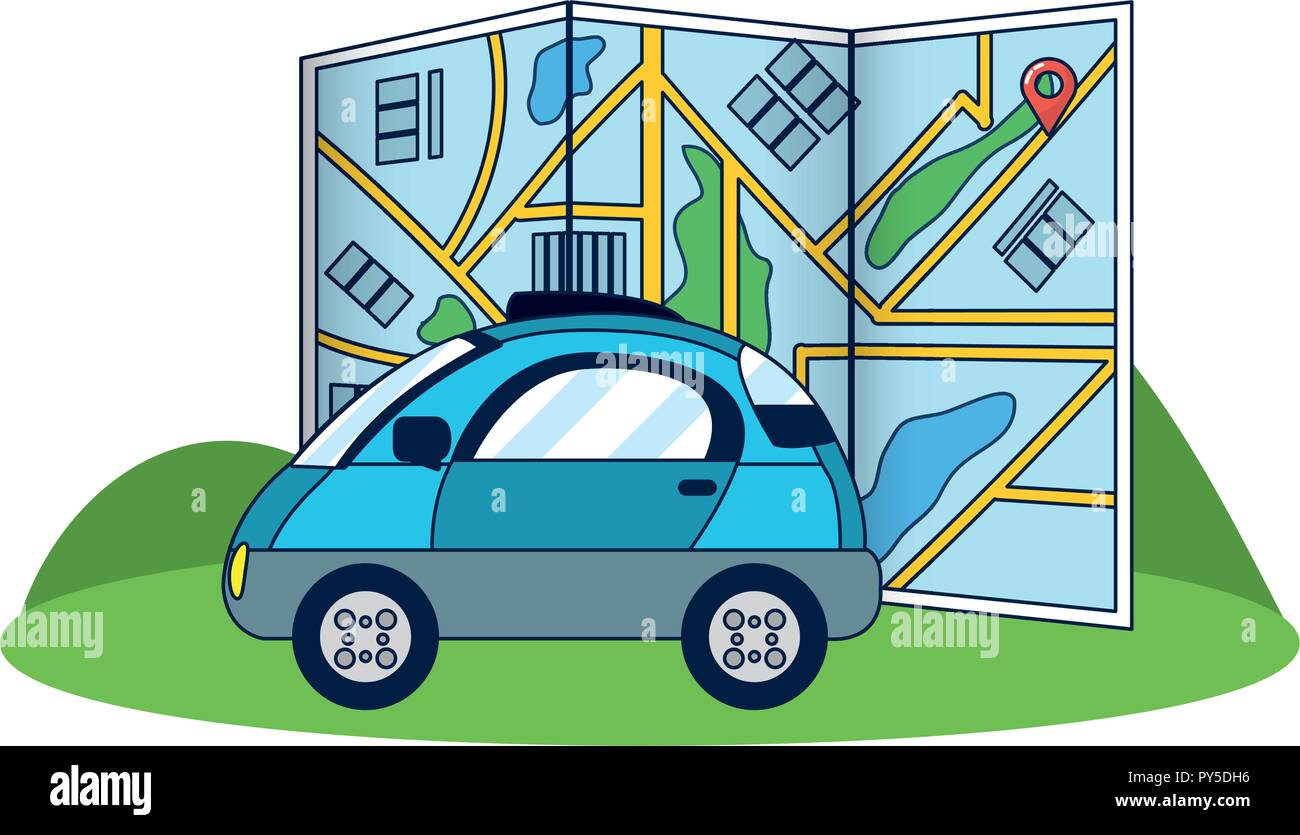 GPS vehicle tracking - Stock Vector