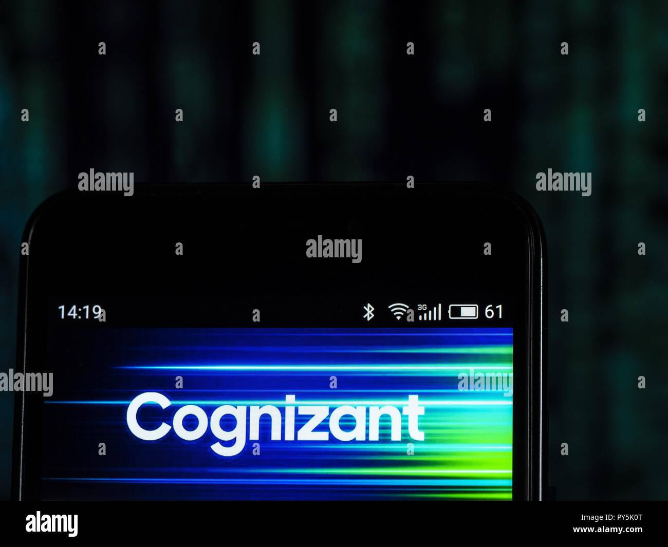 Kiev, Ukraine  25th Oct, 2018  Cognizant Corporation logo