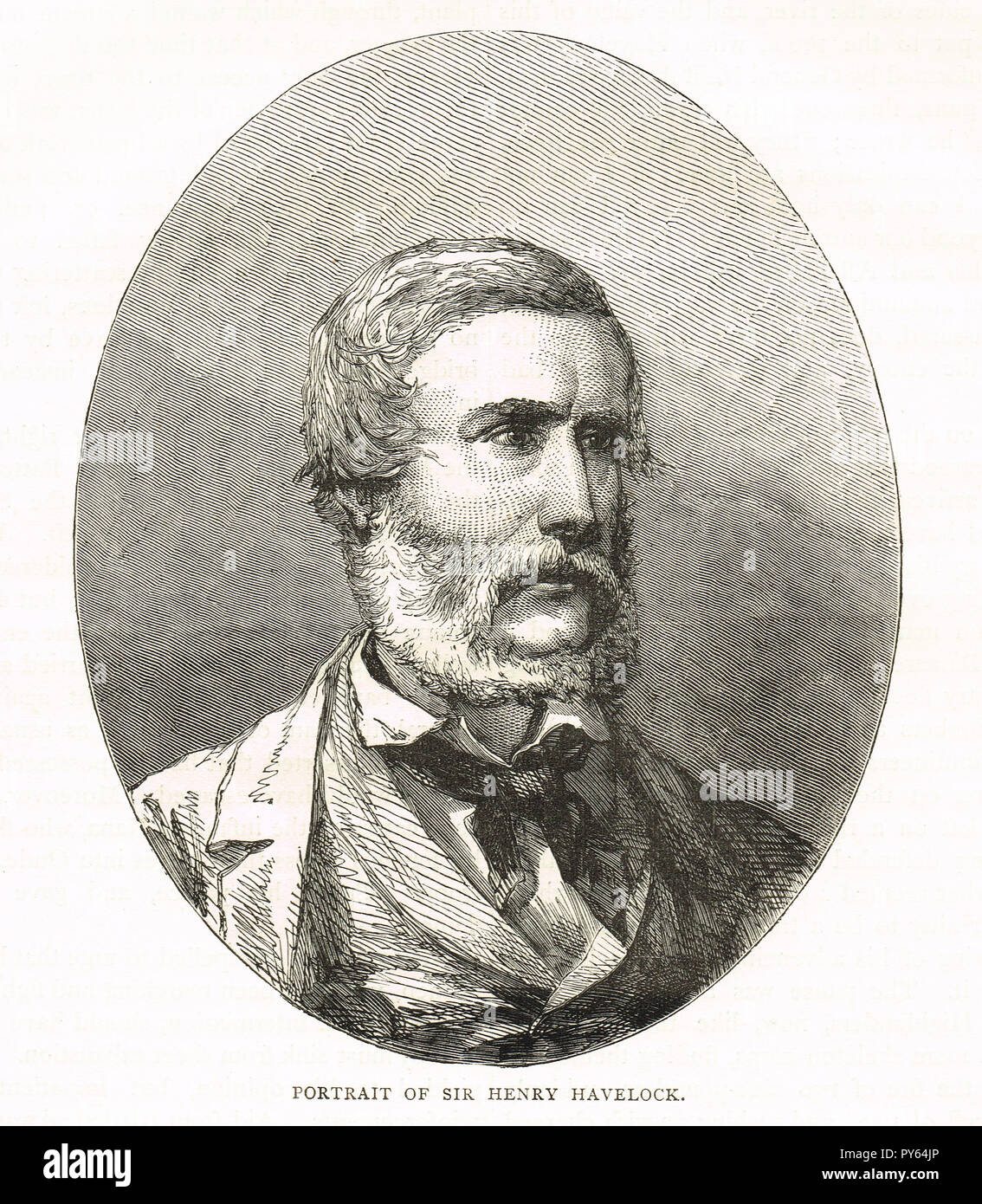 Major General Sir Henry Havelock. British general, particularly associated with India, recaptured Cawnpore during the Indian Rebellion of 1857 Stock Photo