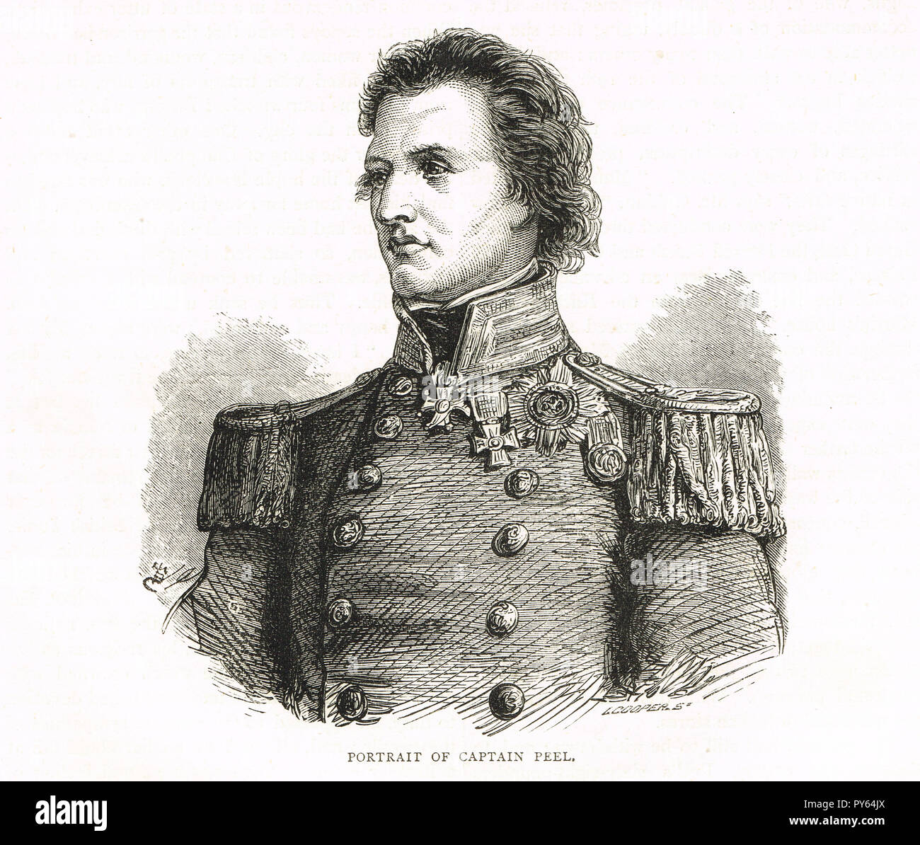 Captain Sir William Peel, third son of Prime Minister Sir Robert Peel.  Recipient of the Victoria Cross, picked up a live shell with fuse still burning, 18 October 1854 at the Siege of Sevastopol - Stock Image