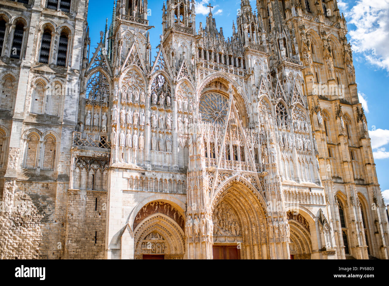 Rouen Cathedral France Stock Photos & Rouen Cathedral France
