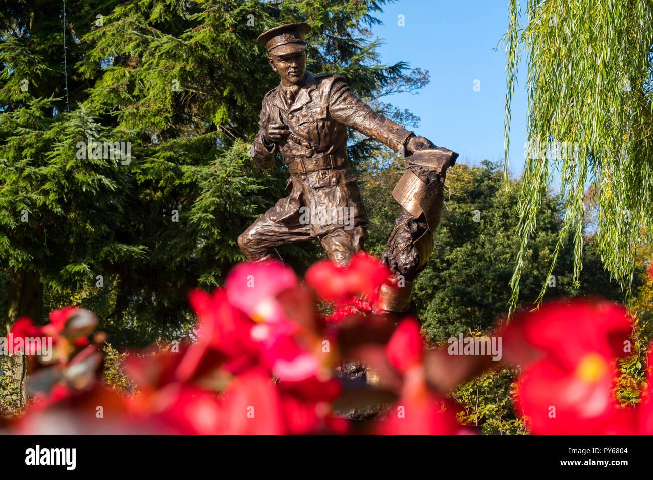 Statue Of World War One Poet Wilfred Owen By Artist Tim