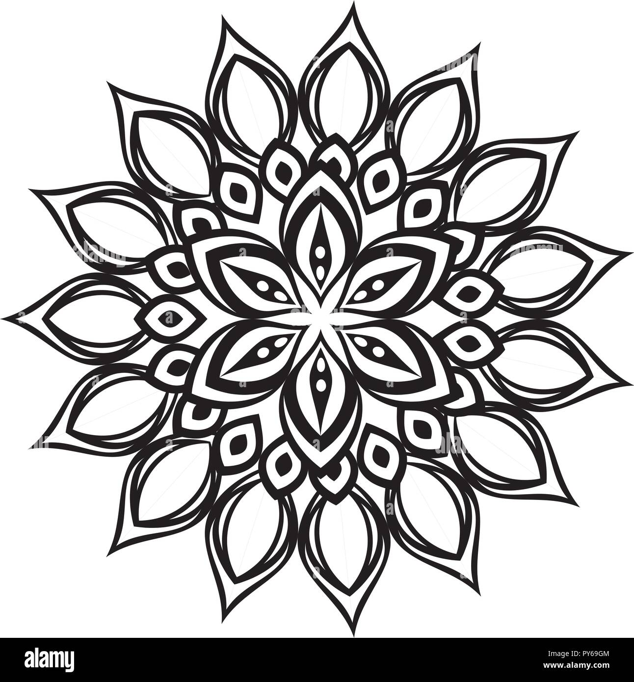 Happy diwali card with mandala vector illustration design stock image