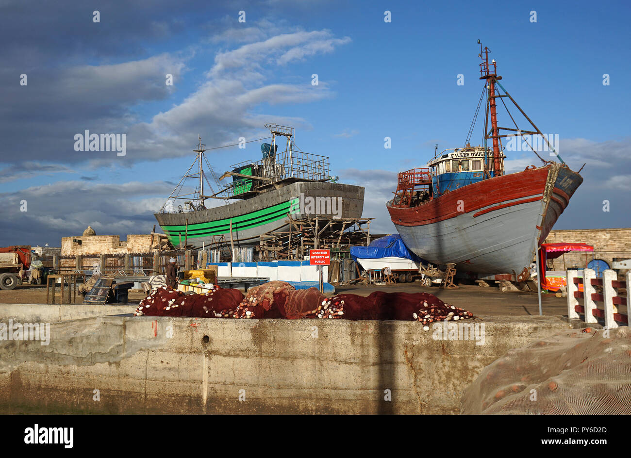 Shipyard Essaouira, Morocco - Stock Image