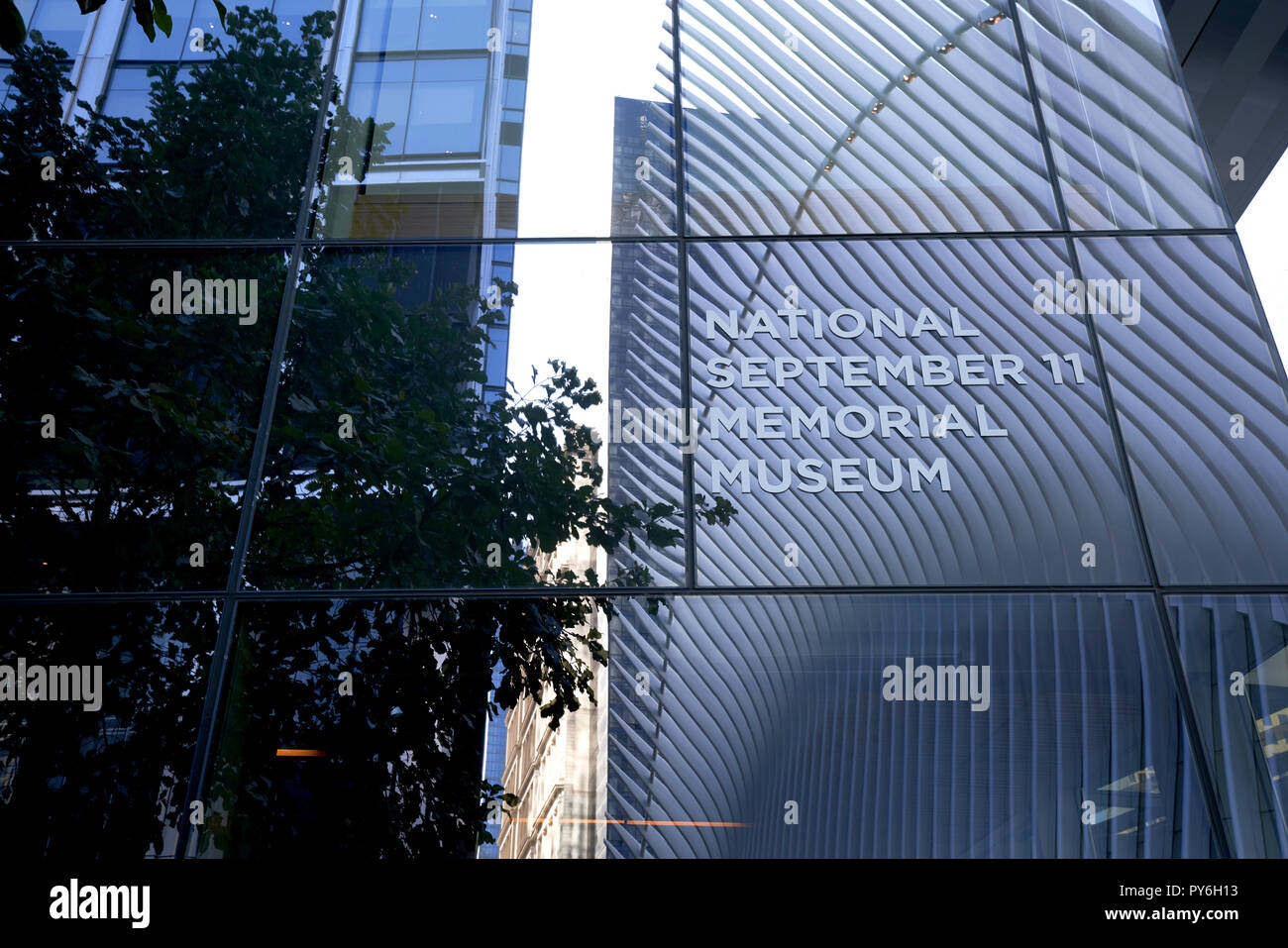 Exterior of the National September 11 Memorial Museum in New York City. - Stock Image