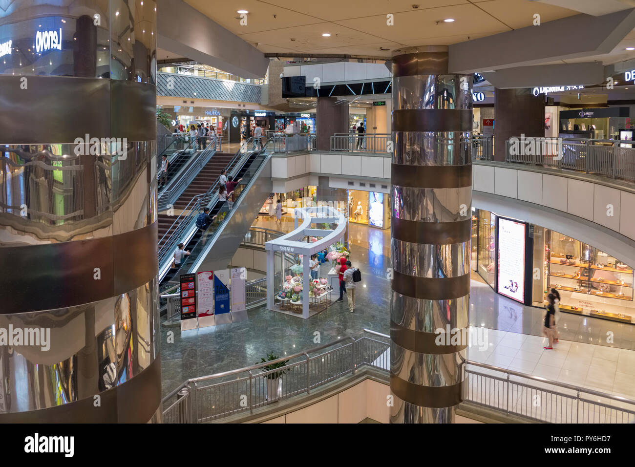 Inside the Super Brand Mall shopping mall in Pudong, Shanghai, China, Asia - Stock Image