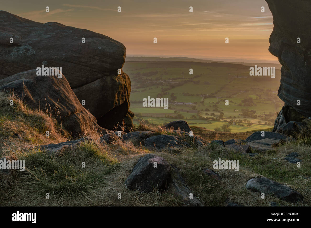 The Roaches, Staffordshire, Peak District national Park, UK - Stock Image