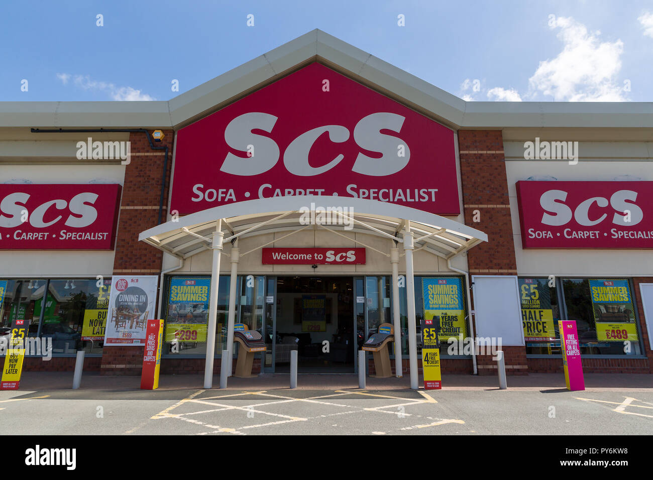 Warrington branch of SCS the home furnishings retailer situated on Riverside Retail Park - Stock Image