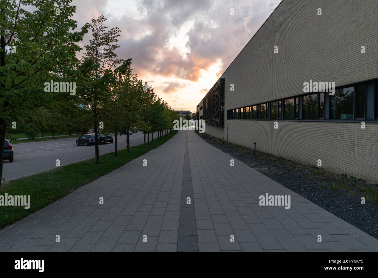 Roskilde, Denmark - 08.24.2018: University College Sjaelland in Denmark - Stock Image