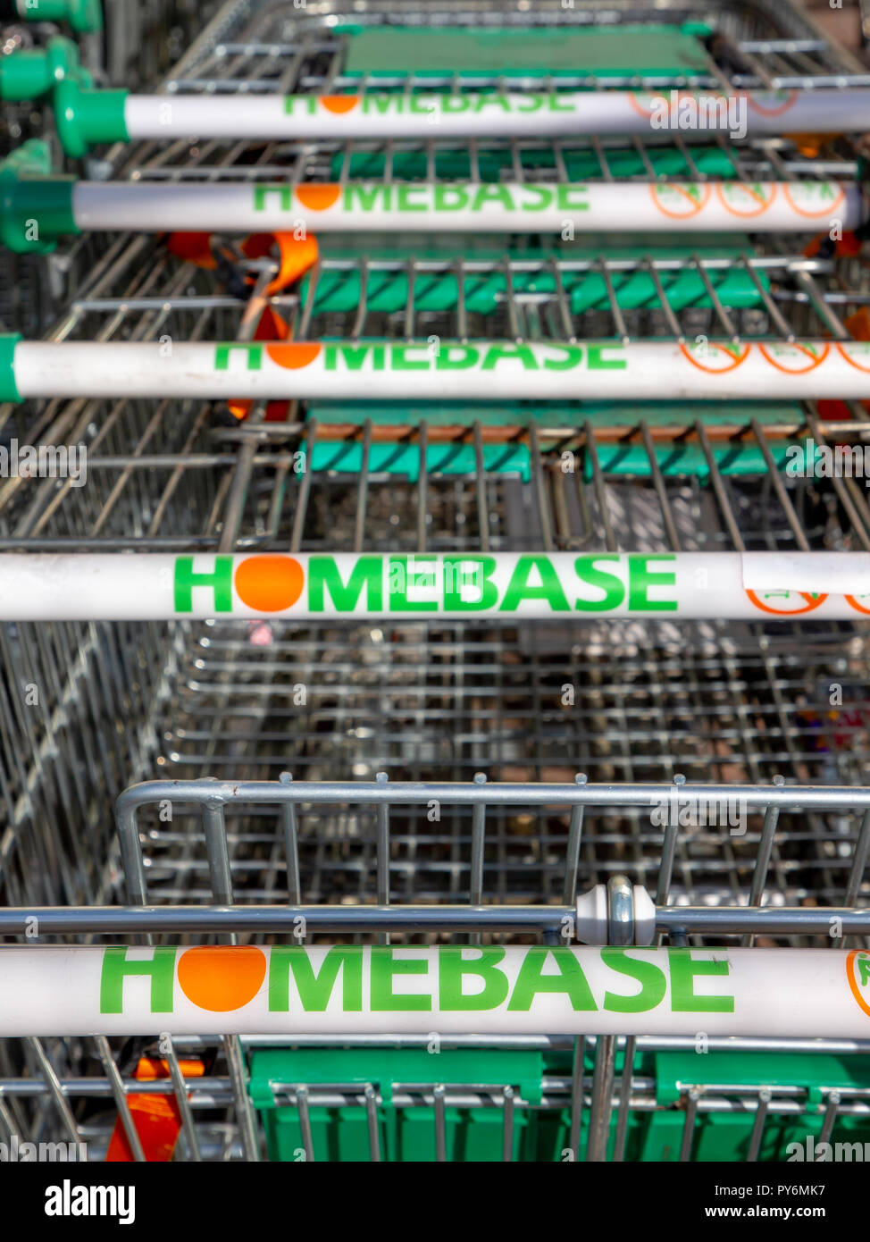 Warrington branch of Homebase has signs up stating this store is closing down Stock Photo