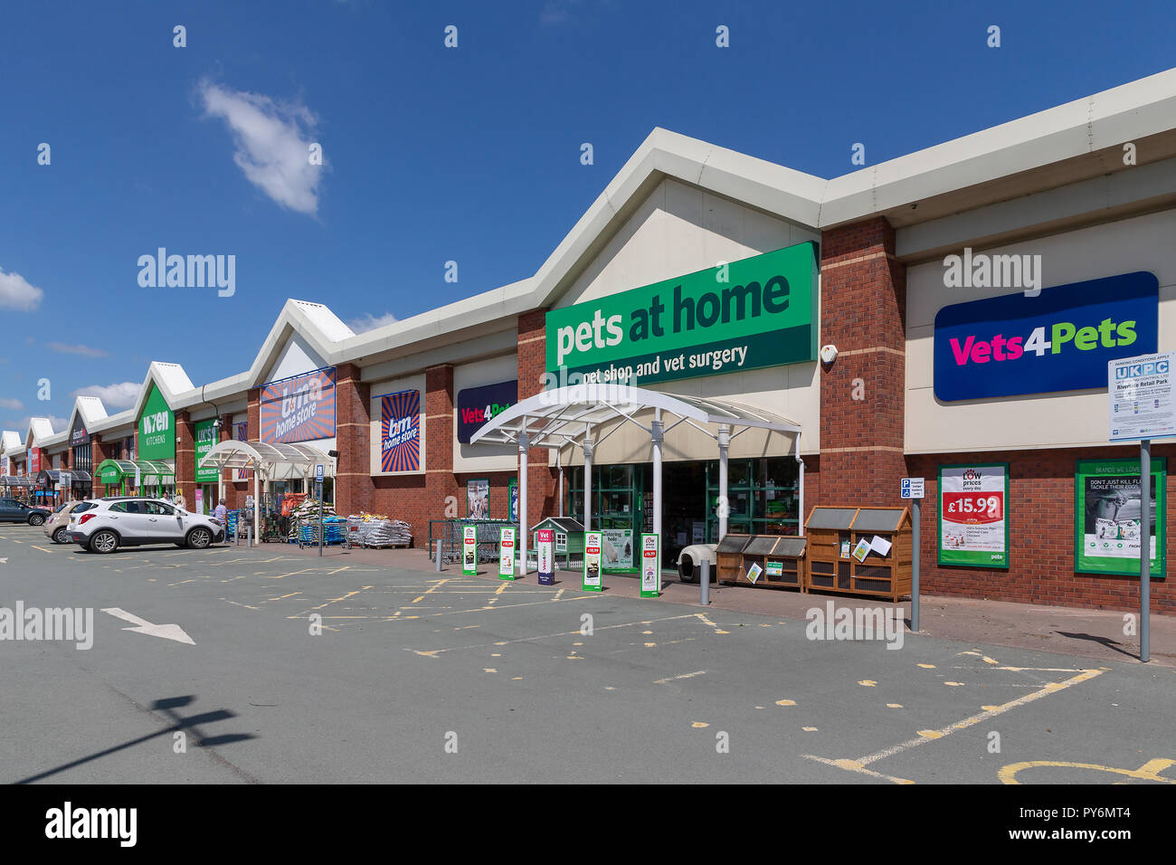 Warrington Branch Of Pets At Home With Vets4pets Inside Stock Photo Alamy