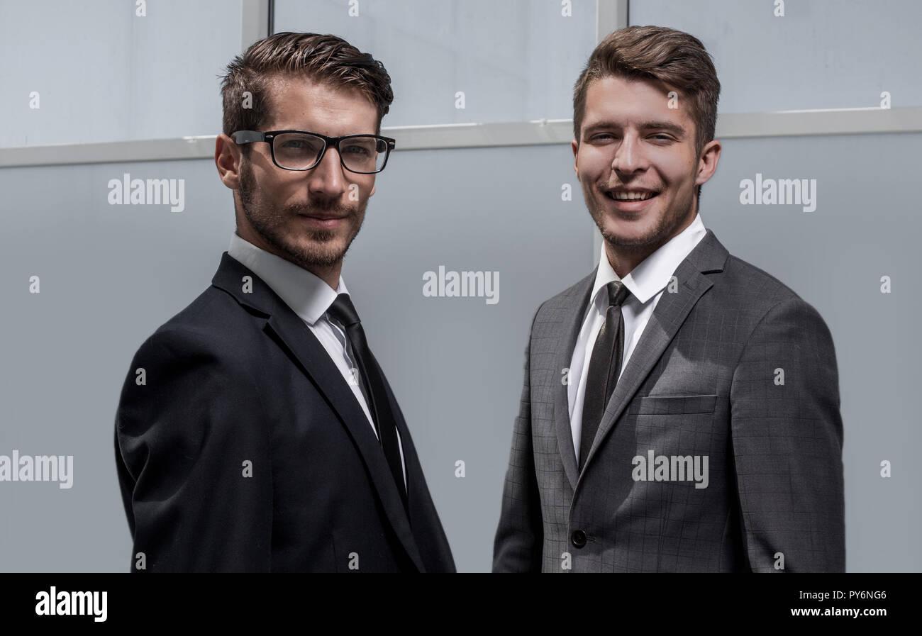 two businessmen posing Stock Photo