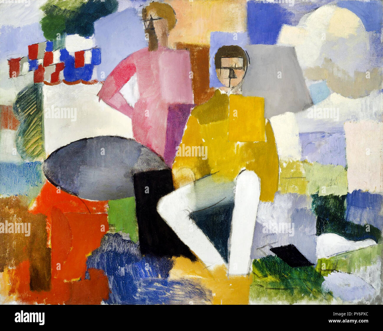 Roger de La Fresnaye, The Fourteenth of July 1914 Oil on canvas, Museum of Fine Arts, Houston, USA. - Stock Image