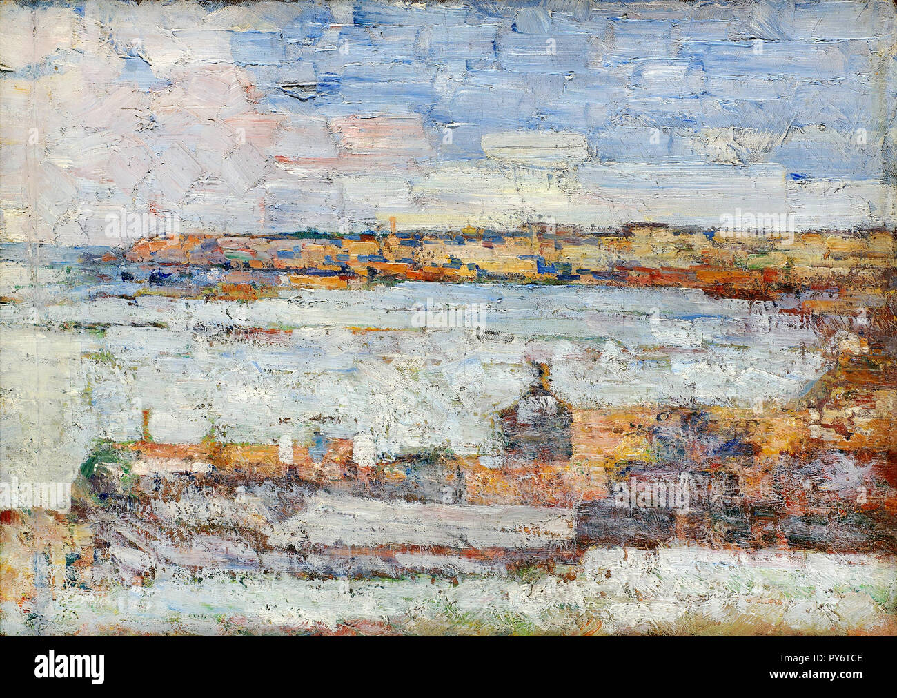 Kosta Milicevic, View of Belgrade 1920 Oil on canvas, Pavle Beljanski Memorial Collection, Novi Sad, Serbia. - Stock Image