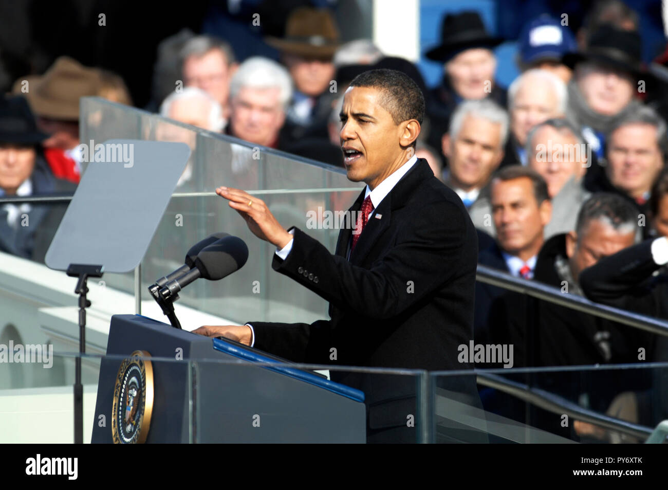 President Barack Obama delivers his inaugural address in Washington, D.C., Jan. 20, 2009. DoD photo by Master Sgt. Cecilio Ricardo, U.S. Air Force Stock Photo