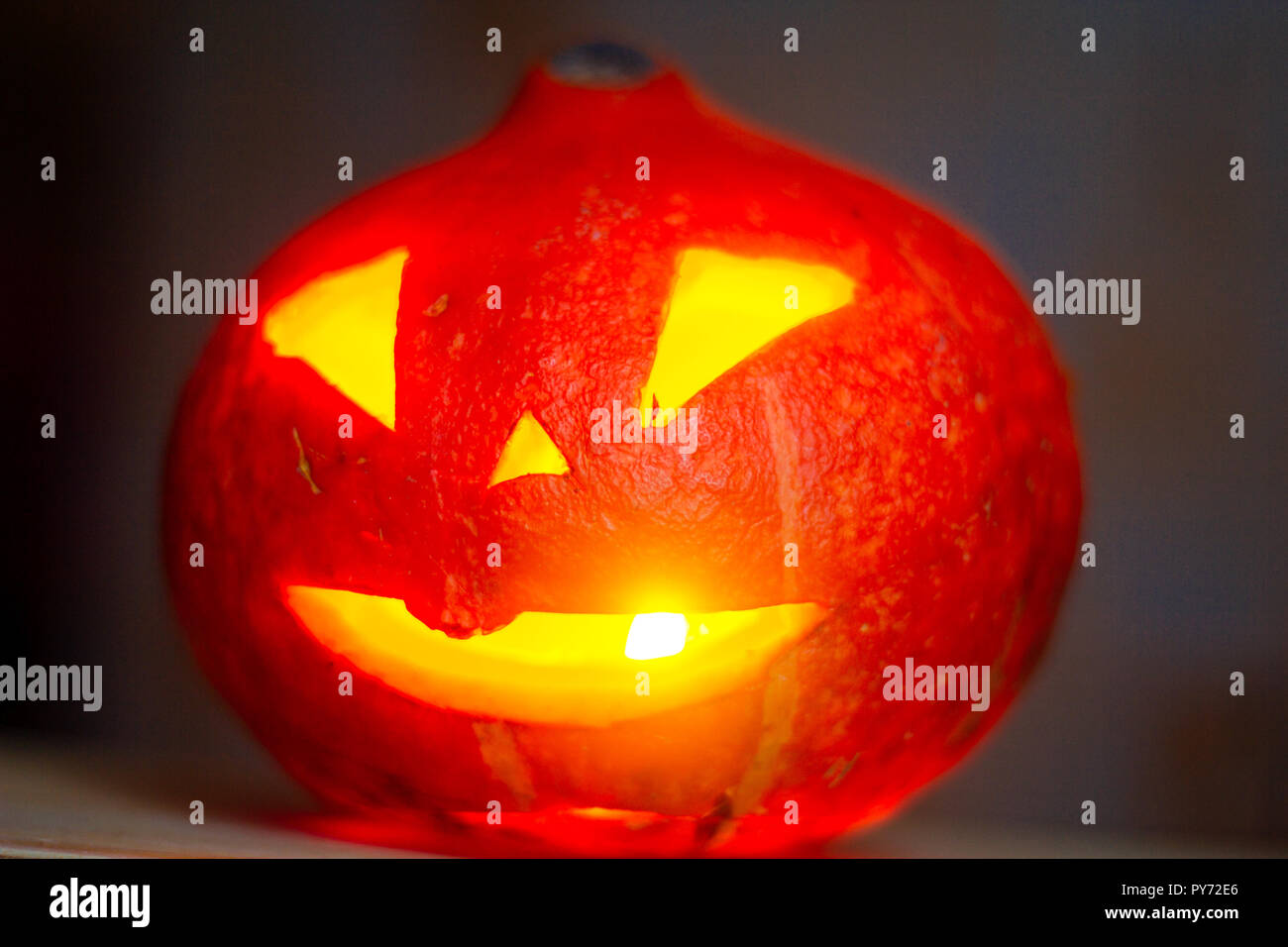 Pumpkin Halloween A Candlelit Pumpkin For Halloween Candles And Pumpkin Carving Carved Scary Pumpkin Head Fearful In The Eyes Scary Holiday Hallow Stock Photo Alamy