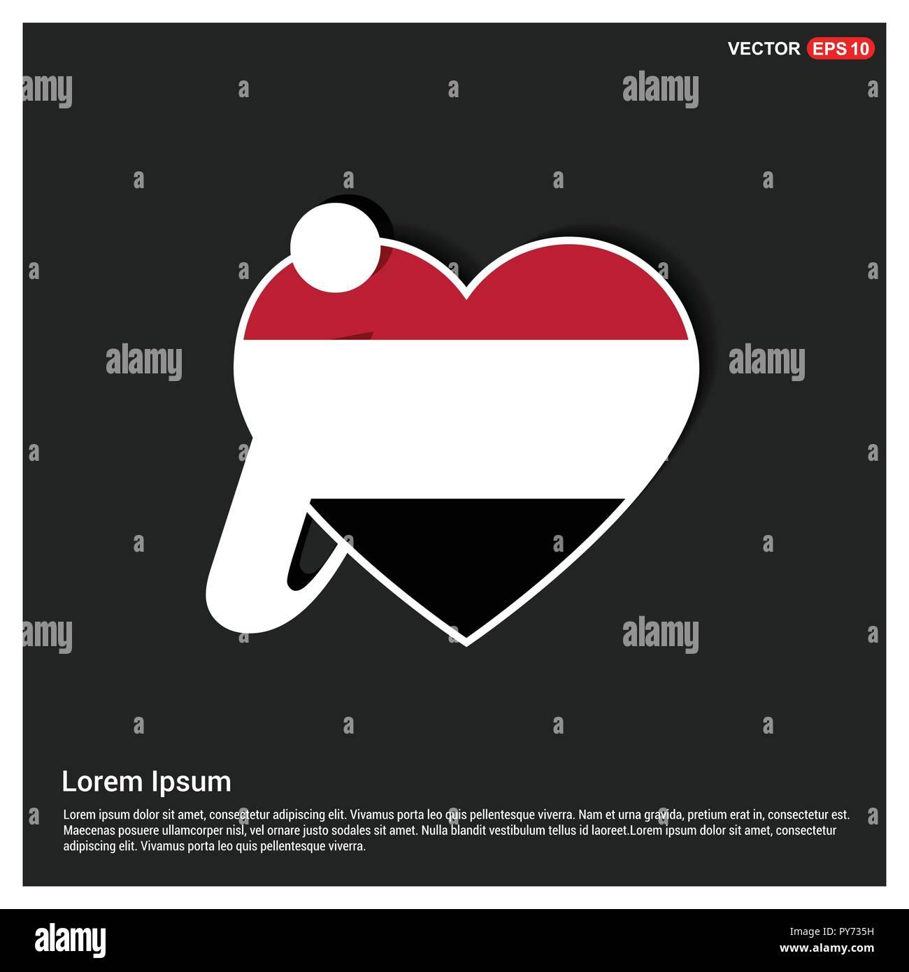 Yemen flag design vector - Stock Image