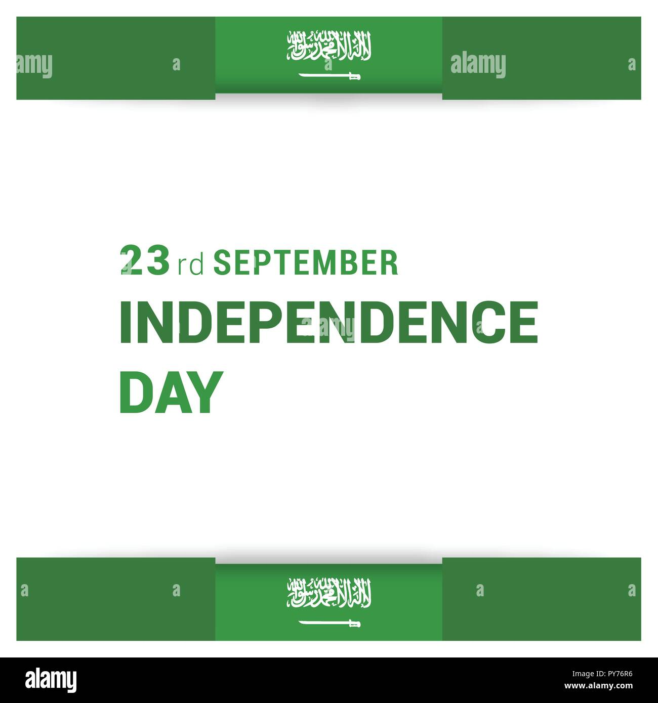 Saudia Arabia Independence day design card vector - Stock Vector