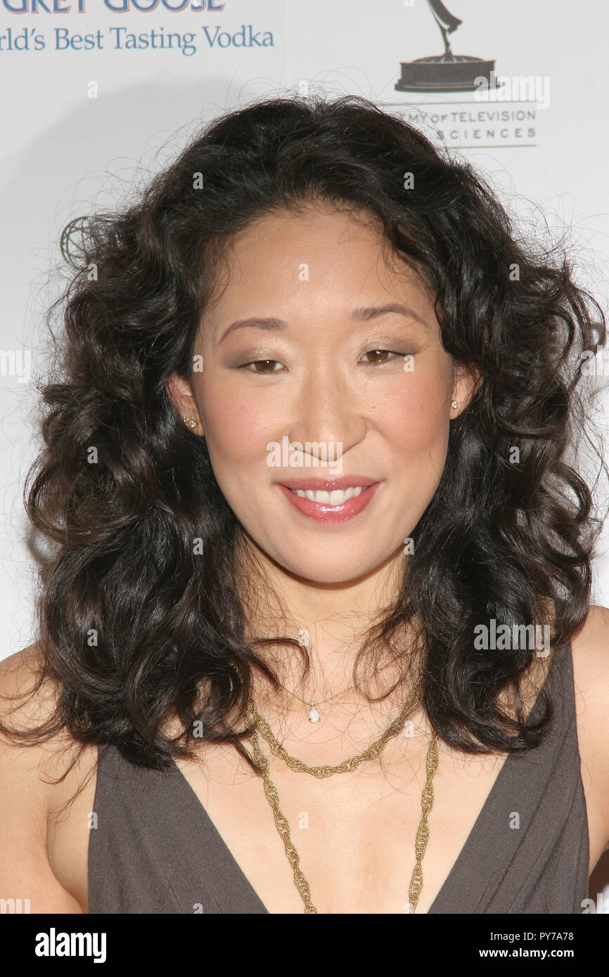 Sandra Oh  08/25/06 THE 58TH ANNUAL PRIMETIME EMMY AWARDS NOMINEES FOR OUTSTANDING PERFORMING TALENT  @  Wolfgang Puck at the Pacific Design Center, West Hollywood photo by Jun Matsuda/HNW / PictureLux  (August 26, 2006) - Stock Image