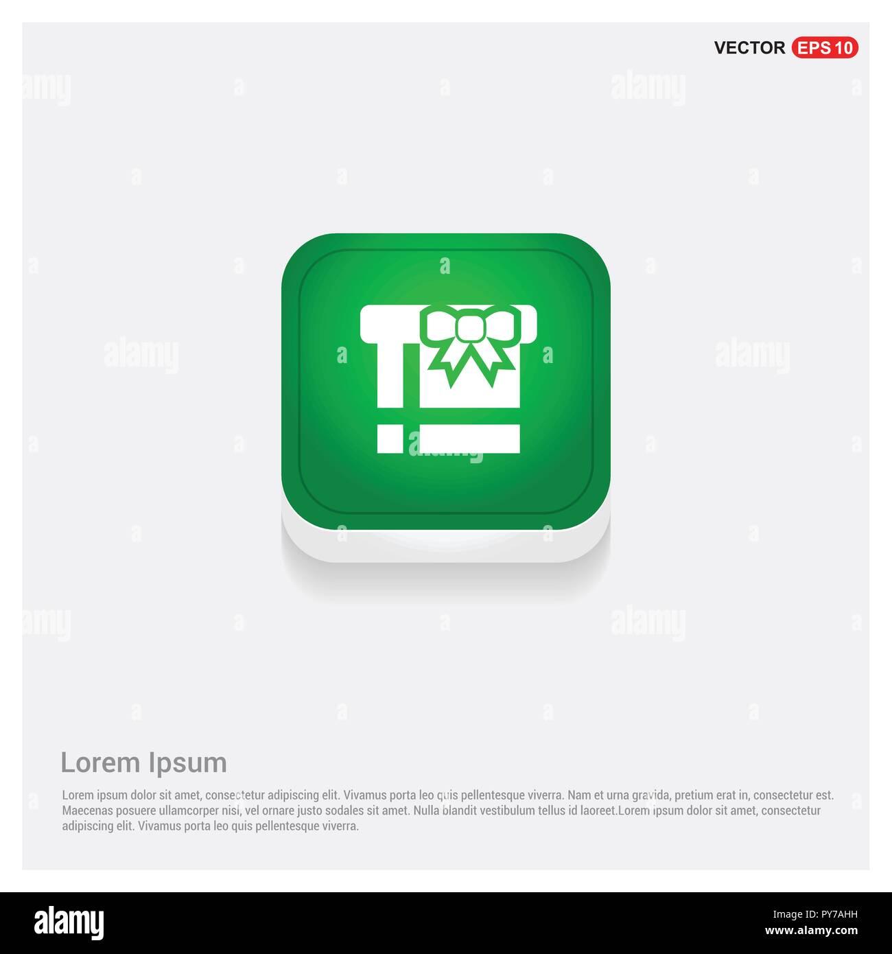 Christmas Gift Box IconGreen Web Button - Free vector icon Stock ...