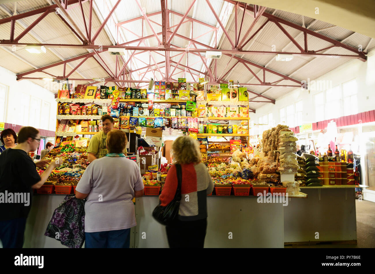 Central Market, Vyborg, Vyborgsky District, Leningrad Oblast, Russia, Russian Federation - Stock Image